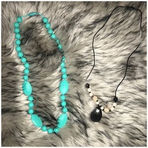 Jewelry - Set of 2  teething necklaces for baby and mom